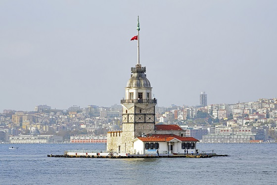 Maiden's Tower in Istanbul, Turkey
