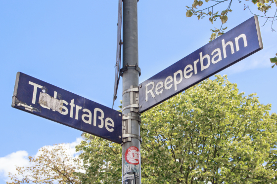 Reeperbahn Street Sign