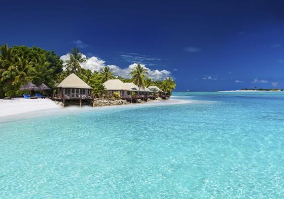 Beach Villas on small tropical island