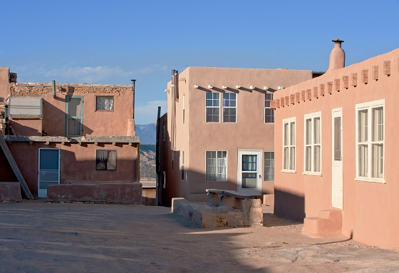Native American houses in Acoma Pueblo, NM