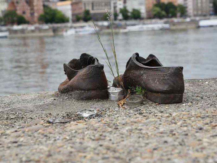 Scarpe sullariva del Danubio: